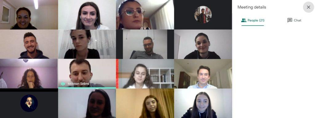 Takimi i parë me bursistët e vitit akademik 2020/2021.